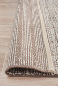 Meadow Braided Woollen Rug in Natural Beige