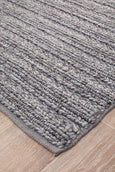 Meadow Braided Woollen Rug in Steel Grey