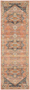 Astra Traditional Runner Rug in Salmon