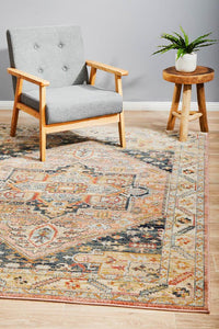 Astra Traditional Rug in Salmon