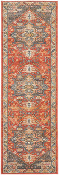 Estera Traditional Rug in Terracotta