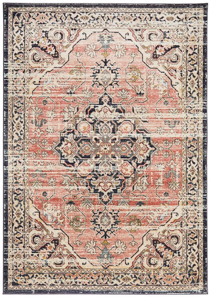 Jahan Traditional Rug in Salmon