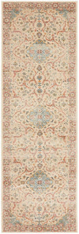 Parisa Distressed Floral Medallion Rug