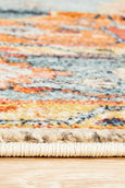 Pasa Distressed Rug in Rust & Blushed Blue
