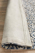 Avignon Frida Transitional Rug in Navy and Grey Beige