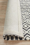 Avignon Pegah Transitional Rug in Ivory and Charcoal