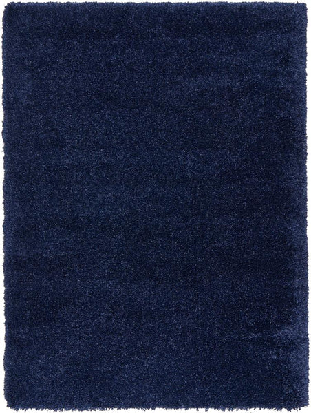 Alaska Plush Rug in Denim Blue
