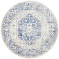 Larissa Floral Medallion Transitional Round Rug