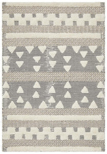 Rafiki Flow Ivory Tribal Pattern Rug