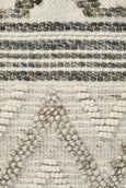 Akanni Textured Flat Woven Rug in Ivory and Natural Grey