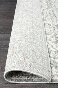 Mirage Gwyneth Stunning Transitional Silver Runner Rug