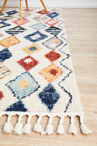 Saffron Moroccan Bohemian Pattern Rug in Multi-Colour