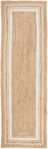 Brunswick Bordered Natural Jute Runner Rug