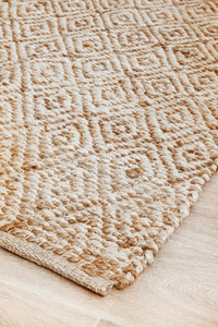 Brunswick Diamond Pattern Jute Rug