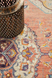 Marseille Traditional Distressed Rug in Terracotta