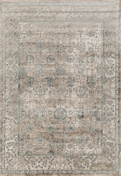 Provence Traditional Rug in Cream & Bronze