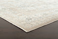 Provence Vine Traditional Rug in Beige & Bronze
