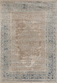 Provence Bordered Medallion Traditional Rug in Cream & Bronze