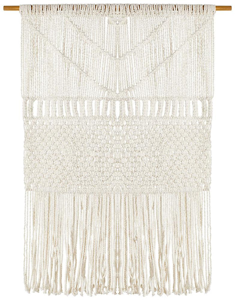 Stella Macrame Fringed Wall Hanging in Natural