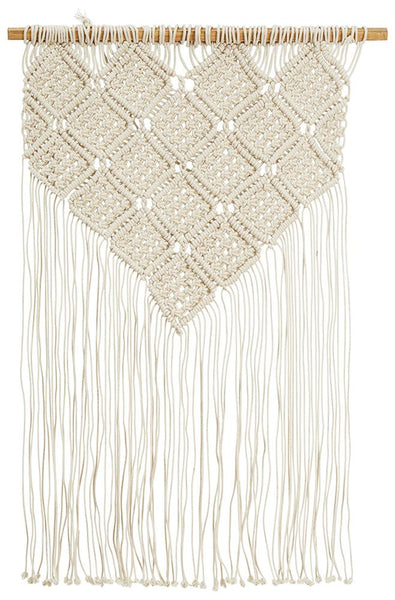 Bohemian Fringed Wall Hanging in Natural