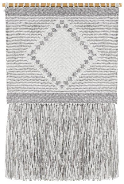 Emilie Dove Wall Hanging in Soft Grey