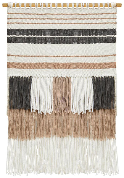 Nude Scandi Fringed Wall Hanging