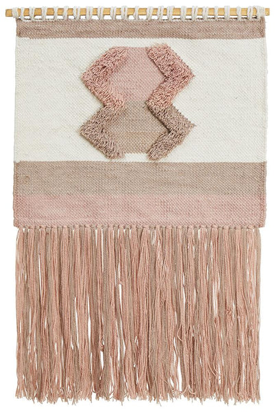 Juno Salmon Fringed Wall Hanging