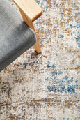 Delara Modern Bamboo Silk Blended Rug in Blue