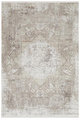 Farid Bamboo Silk Blended Rug in Stone