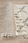 Amira Zig Zag Moroccan Runner Rug in Natural