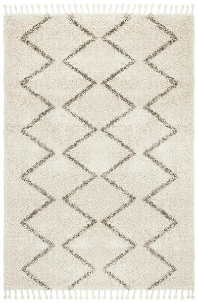 Amira Zig Zag Moroccan Rug in Natural