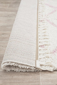 Amira Zig Zag Moroccan Rug in Soft Pink