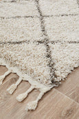Amira Moroccan Runner Rug in Natural
