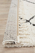 Amira Moroccan Rug in Black and White