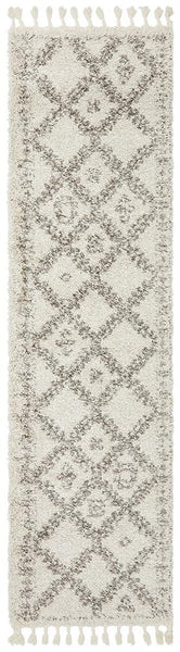 Aliyah Moroccan Trellis Runner Rug in Natural