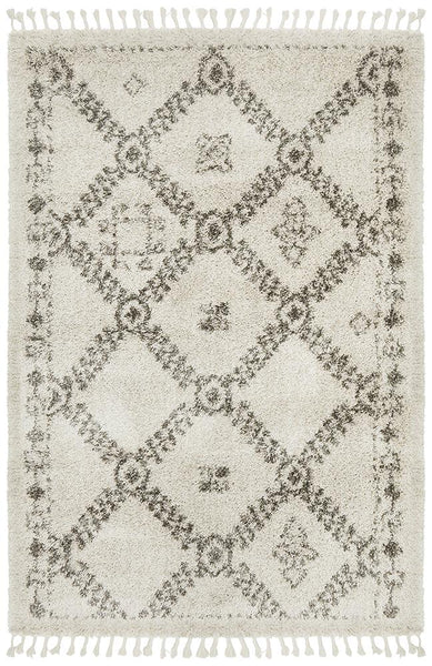 Aliyah Moroccan Trellis Rug in Natural