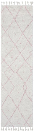 Atlas Moroccan Runner Rug in Soft Pink