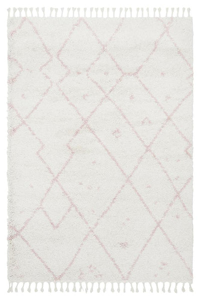 Atlas Moroccan Rug in Soft Pink