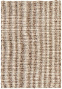 Lagom Hand Woven Wool Rug in Grey Brown