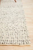 Lagom Hand Woven Wool Rug in Grey