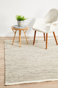 Sarbo Flat Woven Rug in Striped Natural