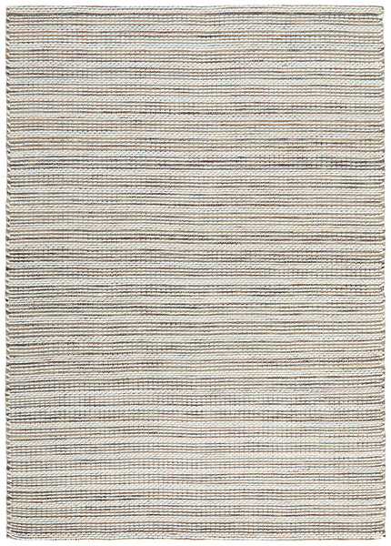 Elsa Hand Woven Wool Rug in Cream & Grey