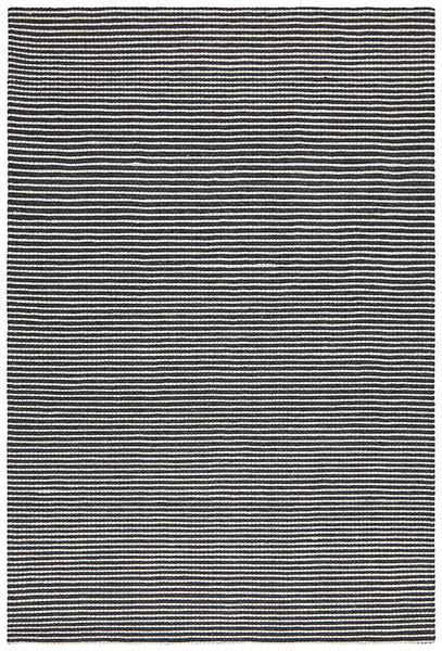 Aluna Felted Wool Striped Rug in Monochrome