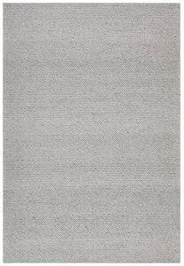 Aluna Thick Hand Woven Felted Wool Rug in Grey