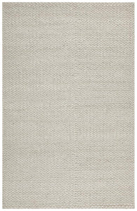 Aluna Braided Wool Rug in Grey and White