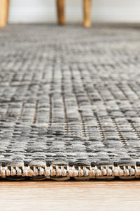 Mallorca Charcoal Diamond Pattern Indoor Outdoor Rug