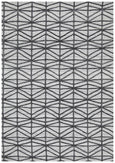 Winter Lattice Pewter Rug in Grey