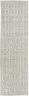 New York Art Deco Tessellate Rug in Natural White