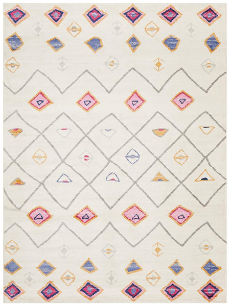 Marrakesh Pastel Diamond Pattern Rug
