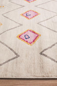 Marrakesh Pastel Diamond Patterned Rug